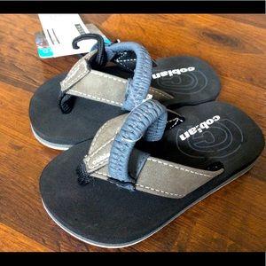 NWT Cobian kids toddler 3/4 sandals flip flops